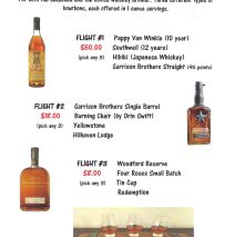 Bourbon FLIGHTS w/ Pappy Van Winkle